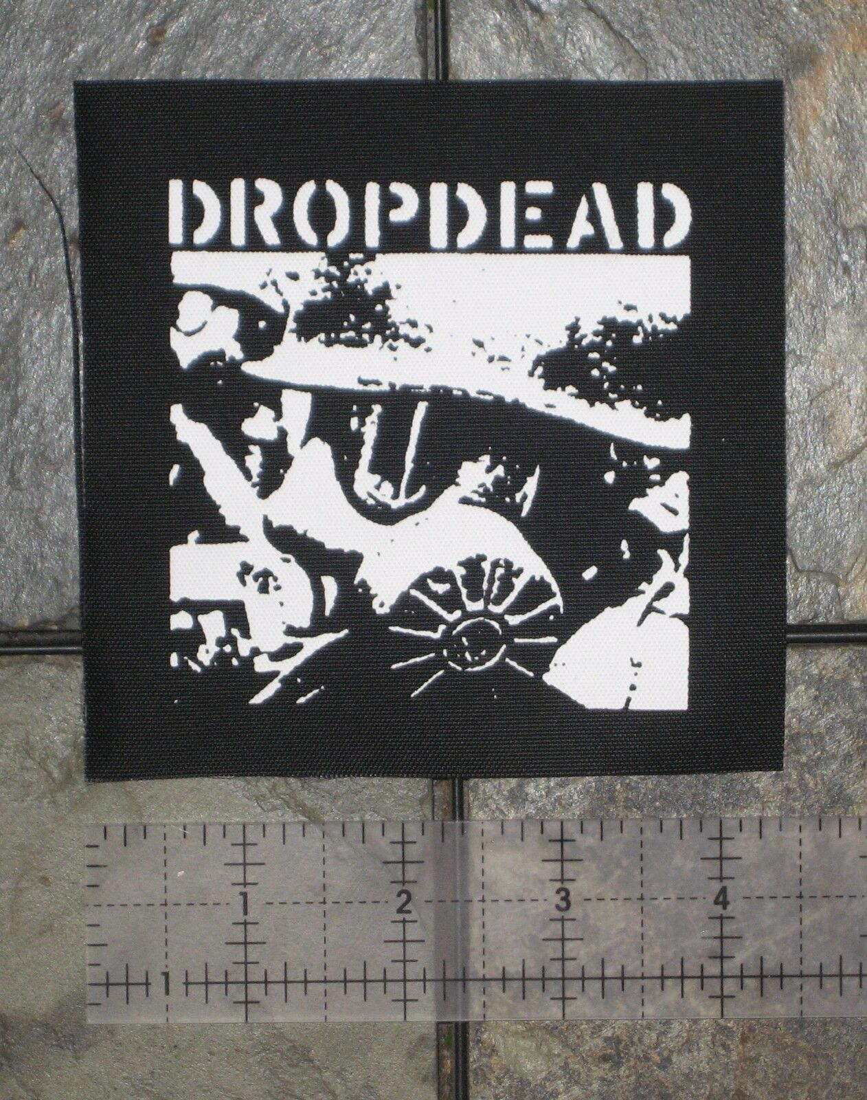 DROPDEAD - DIY Crust Punk Patch Unholy Grave Despise you D-beat Hellnation Nasum