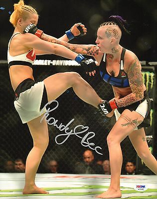 Rowdy Bec Rawlings Signed Ufc 11X14 Photo Psa Dna Fight Night 85 Picture Autod