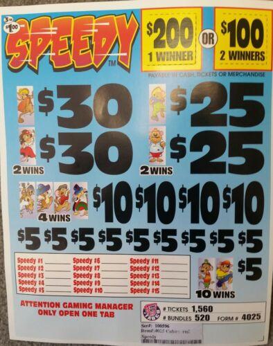 "$120 PROFIT ""SPEEDY"" 520 COUNT $1 EACH $200 SEAL INSTANT WINNERS"