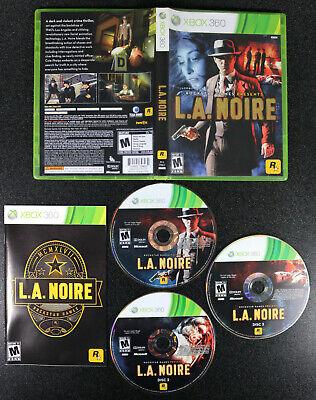 Xbox 360 L.A. NOIRE Complete Game Disc Case + Manual Single Player , usado comprar usado  Enviando para Brazil