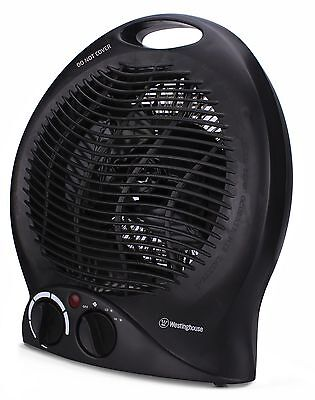 Portable Ceramic Space Heater Electric Hot Room Office Desk Thermostat Small Fan