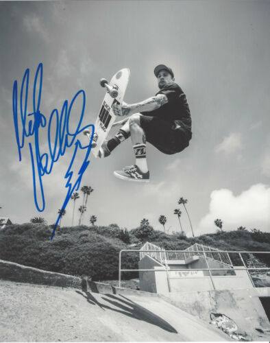 MIKE VALLELY SKATEBOARD LEGEND SIGNED 8X10 PHOTO C w/COA BONES BRIGADE PROOF
