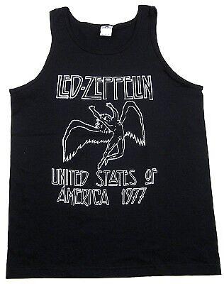 LED ZEPPELIN Tank Top T-shirt Icarus Retro US America 1977 Men Adult Vest New 1977 Mens Retro T-shirt