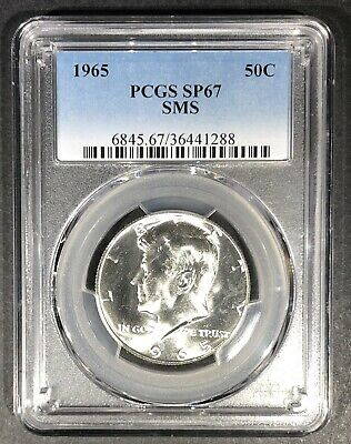 1965 SMS Kennedy Half Dollar PCGS SP-67, Buy 3 Items, Get $5 Off!!