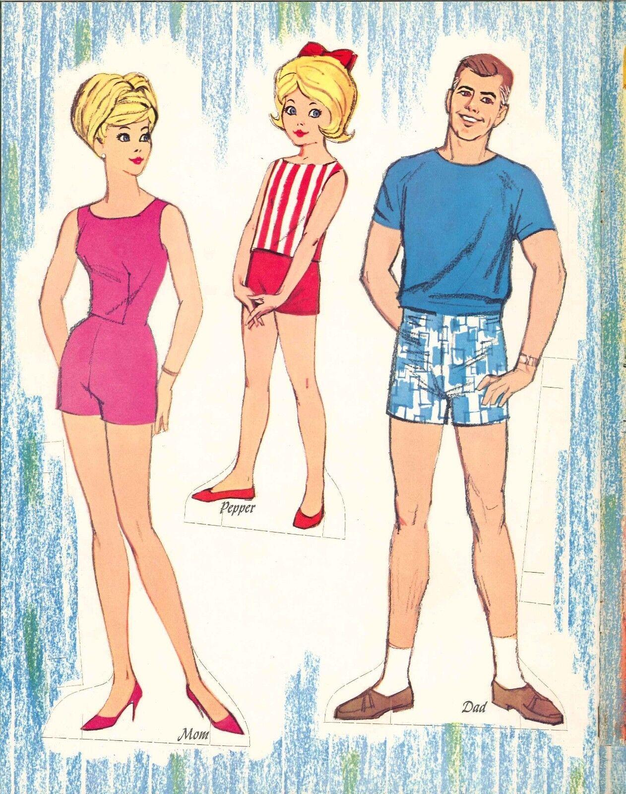 VINTAGE 1964 TAMMY FAMILY PAPER DOLL ~CUTE~ UNCUT LASR REPRODUCTION NO.1 FREE SH