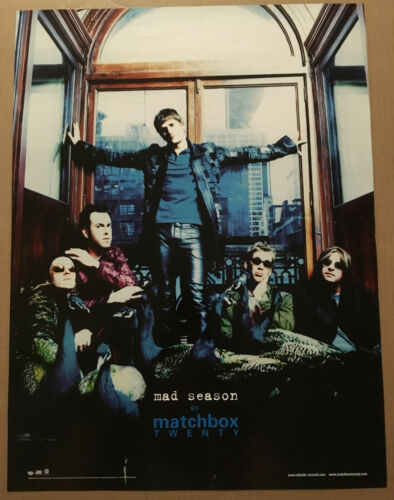 Rob Thomas MATCHBOX TWENTY Rare 2000 PROMO POSTER for Mad CD 18x24 MINT 20 USA