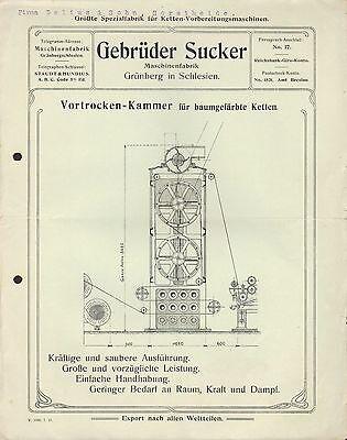 GRÜNBERG i. Schlesien, Werbung 1915, Maschinen-Fabrik Gebrüder Sucker