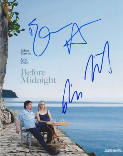 Ethan Hawke/Richard Linklater Signed Before Midnight 10x8 Photo AFTAL