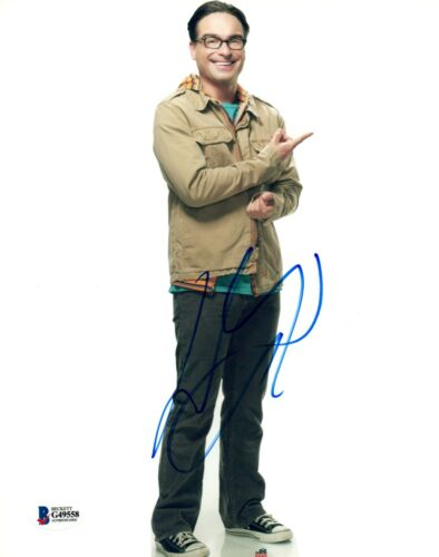 Johnny Galecki Signed Autograph 8x10 Photo The Big Bang Theory BAS Beckett COA