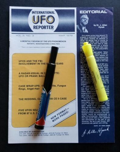 Project Blue Book EXTREMELY RARE NEW March 1978 Newsletter by Dr. J. Allen Hynek