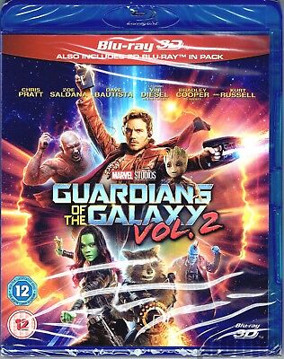Guardians Of The Galaxy Vol  2 New 3D Blu Ray  And 2D  2 Disc Set Marvel Mcu Two