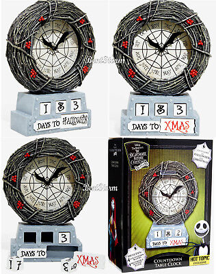 Halloween Table Topics (Disney The Nightmare Before Christmas Countdown Table Clock Hot Topic)