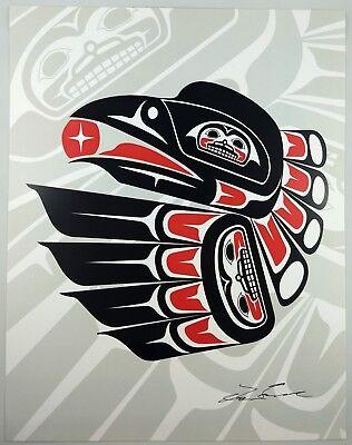 Raven with Shadow Lon French Signed Print Haida Northwest Coast Native Art for sale  Surrey