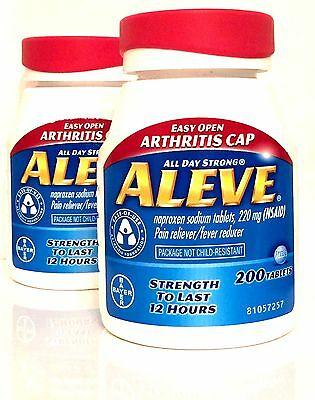 Aleve 2 X 200 Naproxen Sodium Tablets 220 Mg  400 Total  Exp 09 19 Or Later