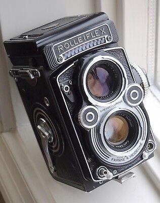 Rare Rolleiflex 3.5F TLR camera w Carl Zeiss Planar lens rival 2.8F Hasselblad