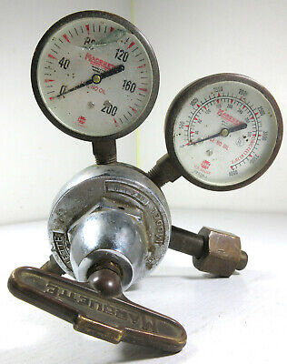 Vintage Marquette Welding Oxygen Pressure Regulator Gw-6-1-10 Glass Gauges