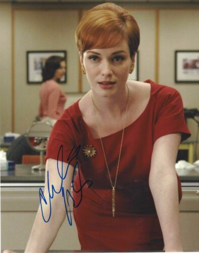 SEXY ACTRESS CHRISTINA HENDRICKS SIGNED MAD MEN 8x10 PHOTO A W/COA JOAN HOLLOWAY