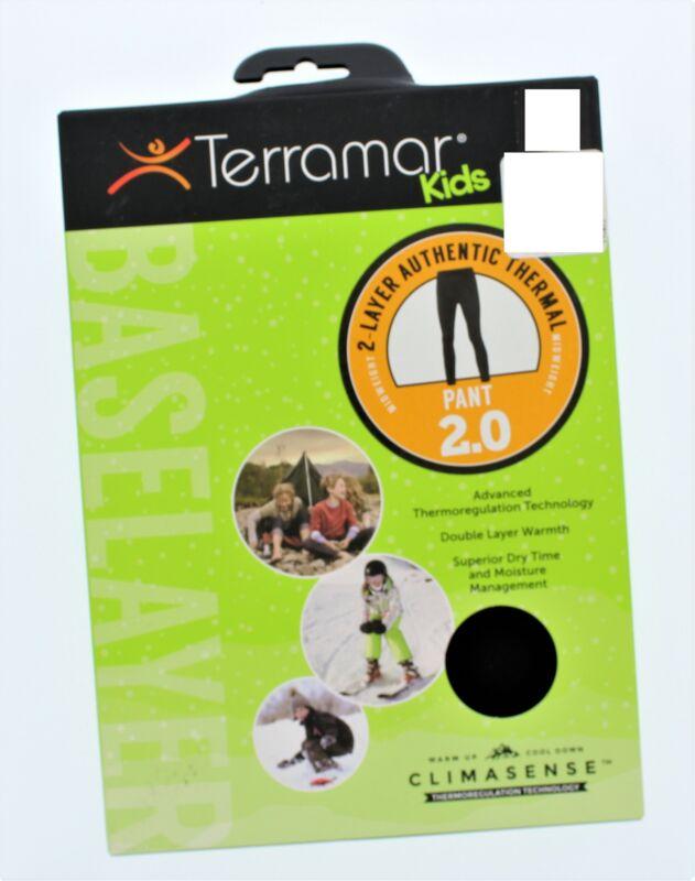 Terramar 2.0 Kids 2 Layer Authentic Thermal Pants Sz Small Black