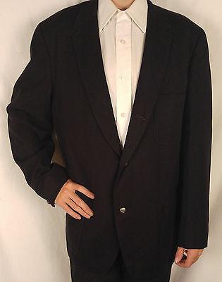 Mens 1950s Vtg Benchleigh Black Brushed Wool Sportcoat Blazer Suit Jacket 42R