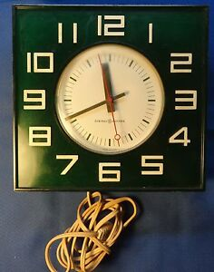 Retro GE Cool Green Lucite General Electric Wall Clock
