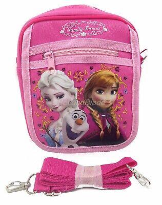 Disney Frozen Hot Pink Camera Bag Messenger Shoulder Purse Bag Large 8