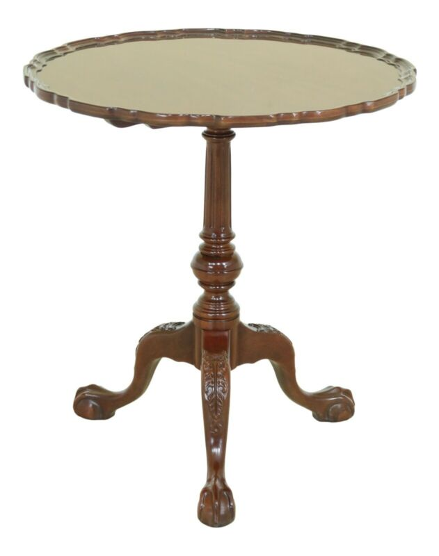 50622EC: SUTTON Ball & Claw Chippendale Mahogany Piecrust Table
