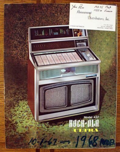 Rare 1967-1968 Jukebox Brochure & Signed Letter - Rock-Ola Model 437