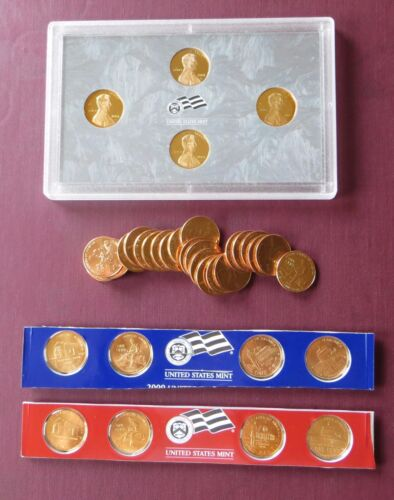 2009 P D and S mintmarks ~ Lincoln Bicentennial Cents Set of 20 Coins