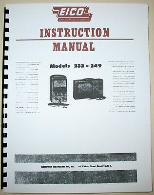 Eico 232 249 Vtvm Instruction Manual Service Bulletin 232 Construction Man