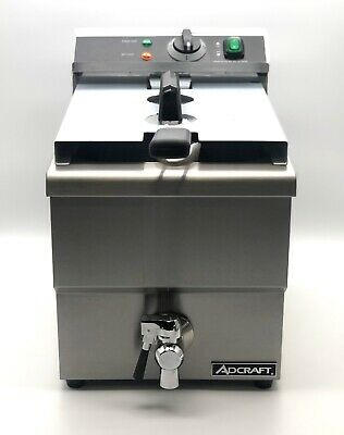 Adcraft Df-12l One Tank Professional Restaurant Electric Counter Deep Fryer 25lb
