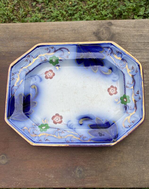 Early 1840s Rare Gaudy Dutch Ironstone Platter