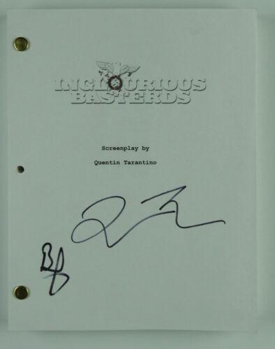 Quentin Tarantino Brad Pitt Inglourious Basterds Autograph Signed JSA Script