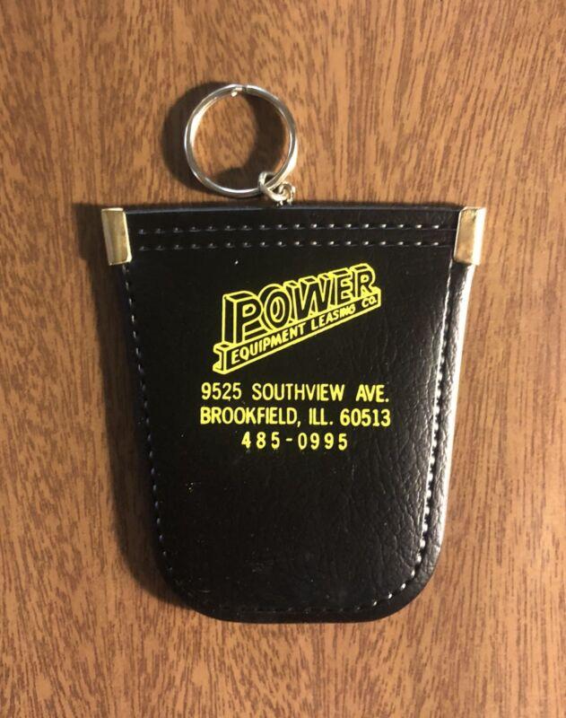 Vtg Salesman Sample Keychain Power Equipment Leasing Co. Brookfield Illinois