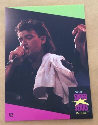 1991 Pro Set Super Stars Musicards U.K. Edition Trading Card #140 U2 NM-MT