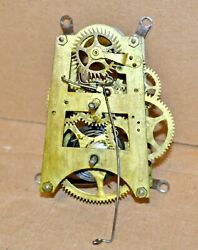 Antique Gilbert 8 Day Time Only Wall Regulator Clock Movement for Parts