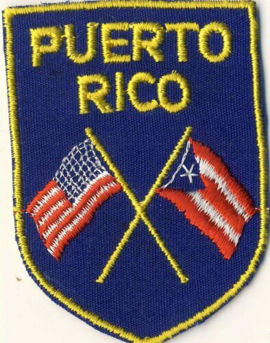 """Puerto Rico PR American Flag Souvenir Tourist 2.75"""" Patch"""