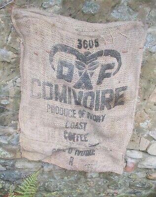 Caffeteria Design Rustic Cushion Coffee Sack Shabby Chic Hessian Jute 18 Inch