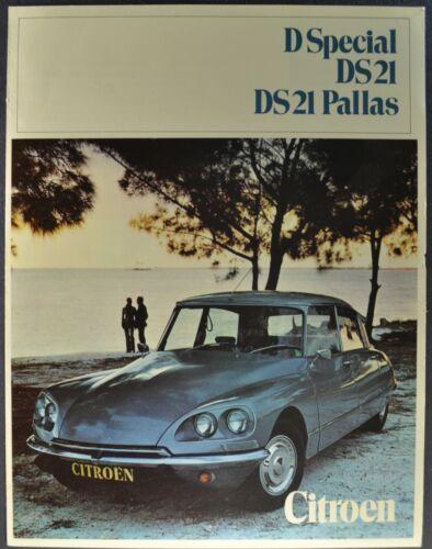 1970 Citroen Brochure Folder DS21 Pallas D Special Sedan Excellent Original 70