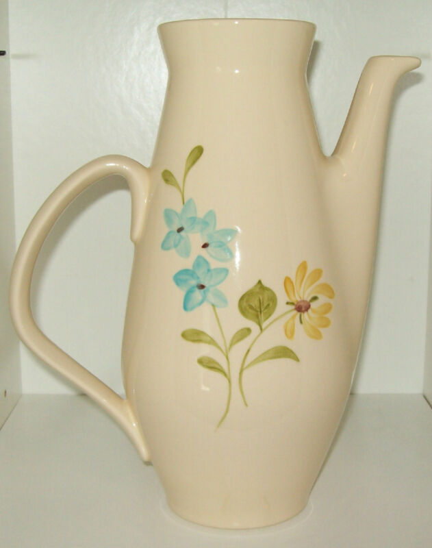 Vintage Franciscan Coffee/Tea Server, Pastel Flower Design ~ No Lid