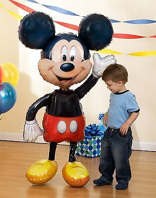 Mickey Mouse 52  Jumbo Airwalker Foil Balloon Party Decorating Supplies