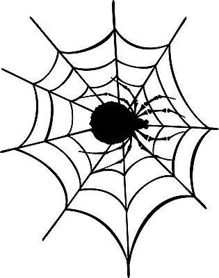AUFKLEBER oder WANDTATTOO ++ SPINNENNETZ mit Spinne ++ - Halloween Wandtattoos