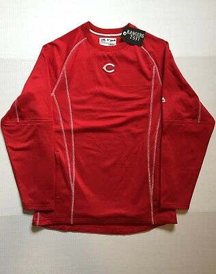 Majestic Athletic CINCINNATI REDS Long Sleeve Shirt Mens Size M   NWOT - Majestic Athletic Red Long Sleeve Shirt