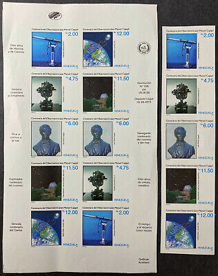 VENEZUELA  1426  Beautiful Mint NEVER Hinged IMPERF Sheet and Strip SPACE UPTOWN