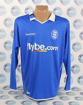 BIRMINGHAM CITY 2004 2005 FOOTBALL SHIRT JERSEY TRIKOT LONG SLEEVE DIADORA L image