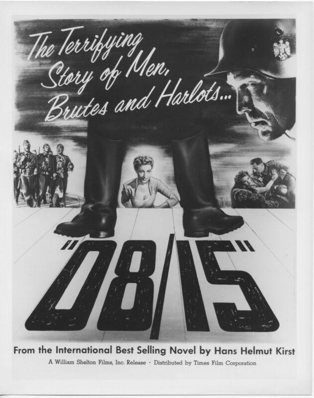 08/15/NAZIS original movie still JOACHIM FUCHSBERGER b/w 1954 artwork photo