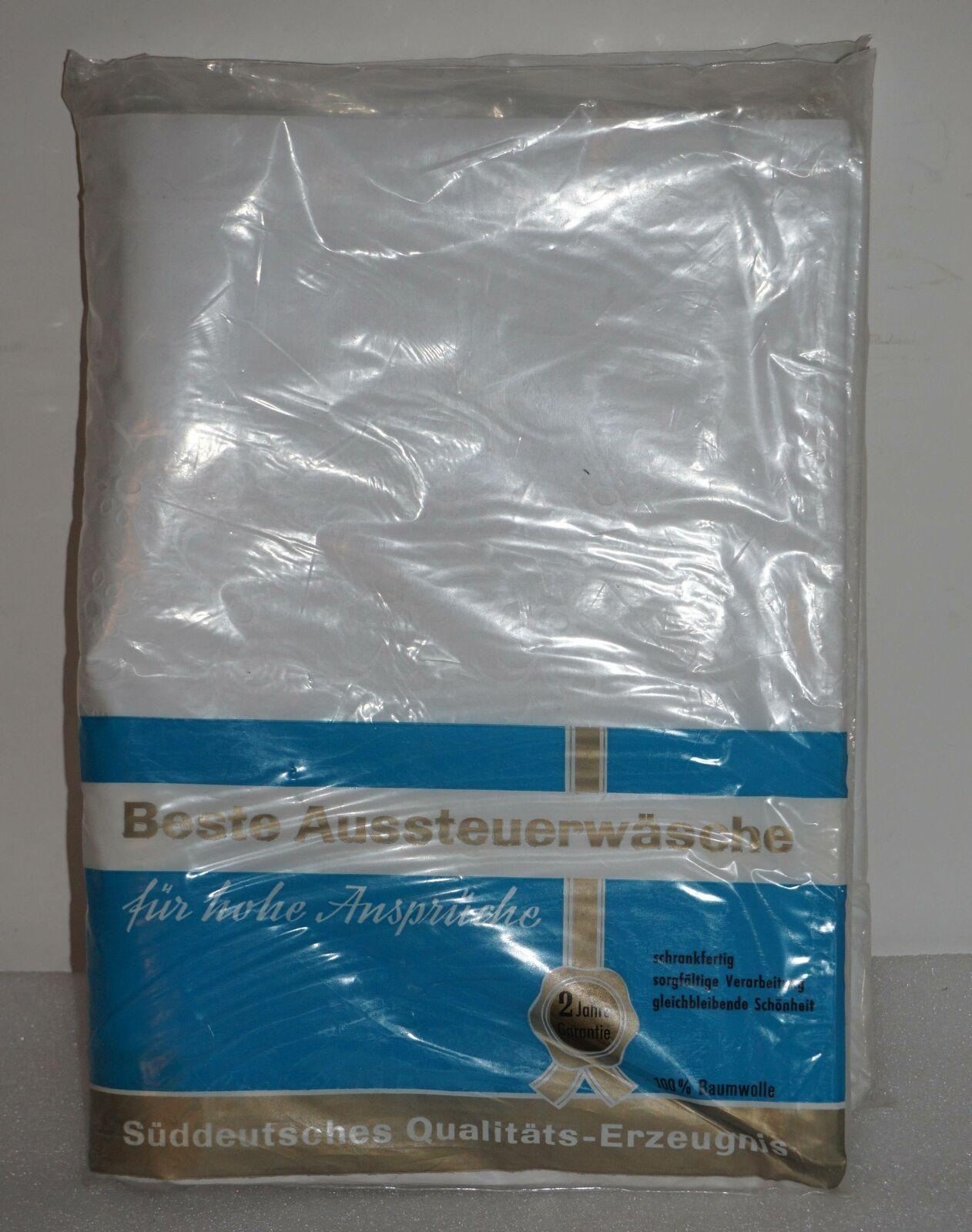 Vintage original BAUR Aussteuer Bettwäsche weiß 100% Baumwolle in OVP | eBay