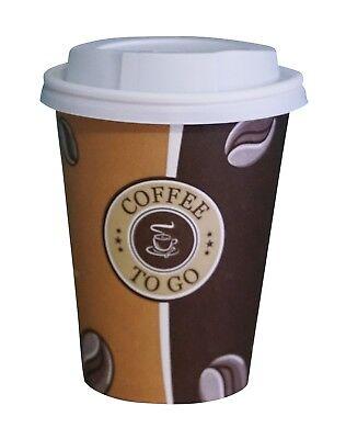 Cafe to go Kaffeebecher 300 ml PREMIUM mit Deckel, Heissgetränkebecher 100 Stück