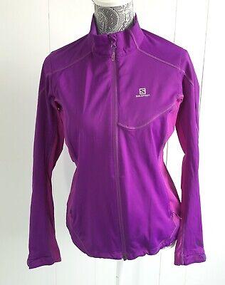 Salomon Women's Softshell Running Jacket Size Medium Active Zip Up Windstopper