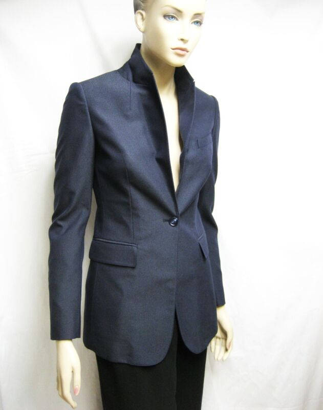 $1,595 Burberry Prorsum 4 38 Women Wool Blend Tuxedo Jacket Tailored Blazer Lady