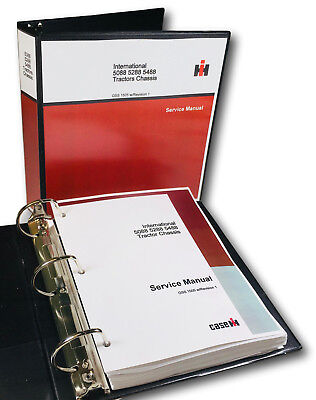 INTERNATIONAL CHASSIS SERVICE MANUAL FOR 5088 5288 5488 TRACTOR REPAIR SHOP IH